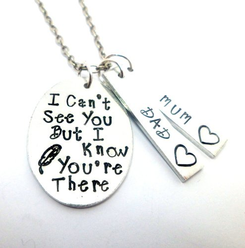 'I Can't See You...' Necklace