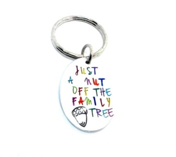 Just A Nut Off The Family Tree Keyring