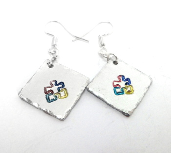 Autism Puzzle Piece Earrings