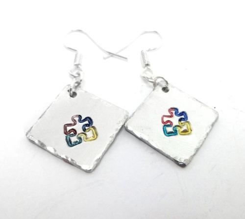 Autism Puzzle Piece Earrings
