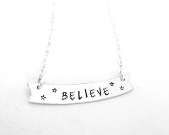 Believe - Banner Necklace