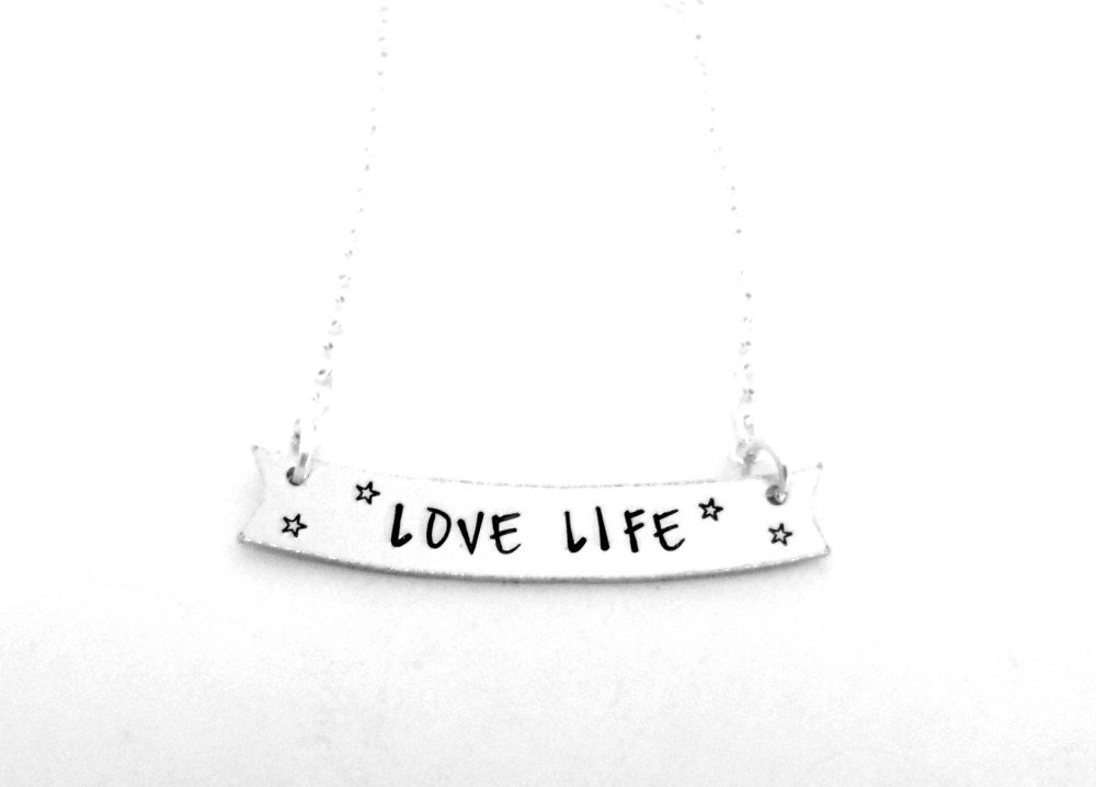 Banner Necklace (Love Life)