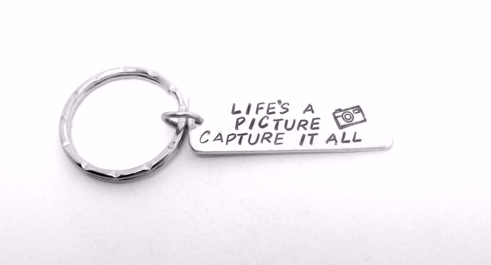 Life's A Picture Capture It All Keyring