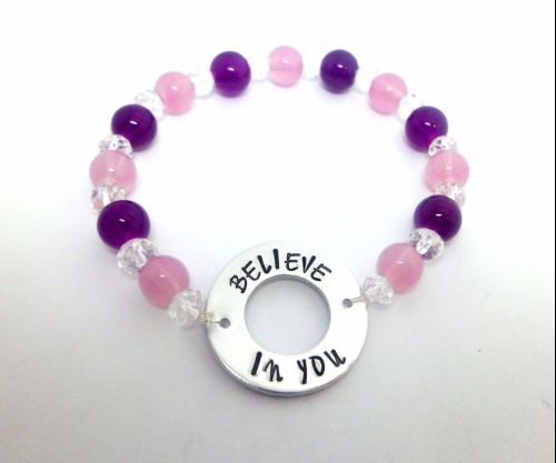 Washer Beaded Bracelet - Believe In You