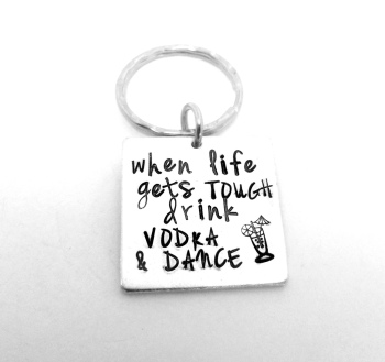 When life gets tough.....  Keyring
