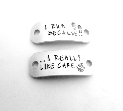 I Run Because... I Really Like Cake Trainer Tags
