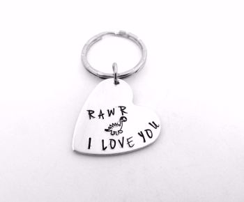 Rawr I Love You - Dino Keyring