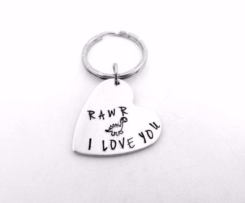 Rawr Means I Love You - Dino Keyring