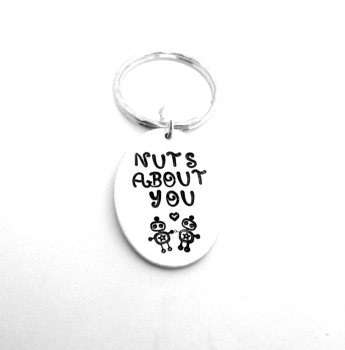 Nuts About You (Robot) Keyring