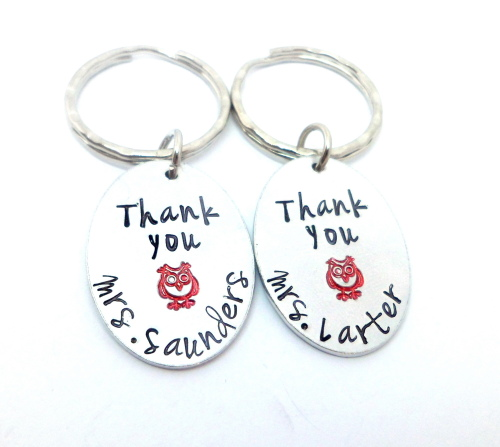 Thank You - Teacher Keyring