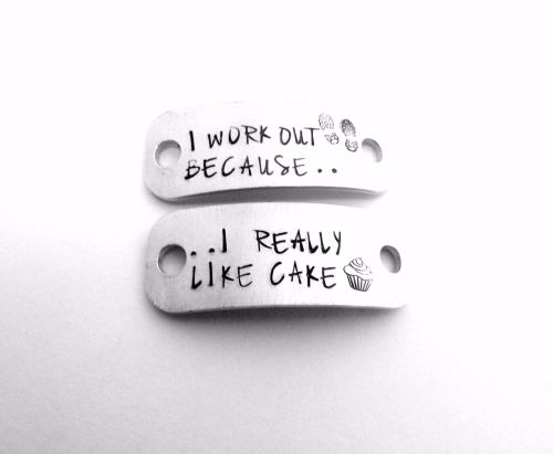 I Work Out Because... I Really Like Cake Trainer Tags