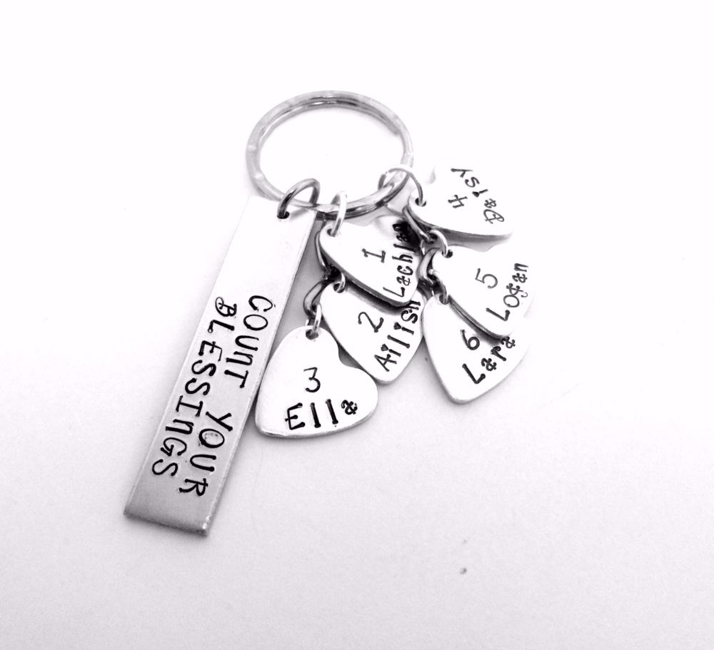 Count Your Blessings Keyring
