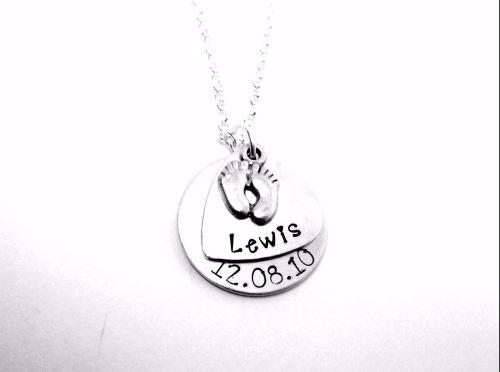 Child Name & Date Necklace