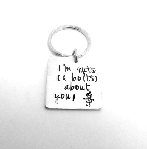 I'm nuts (& bolts) about you! Keyring