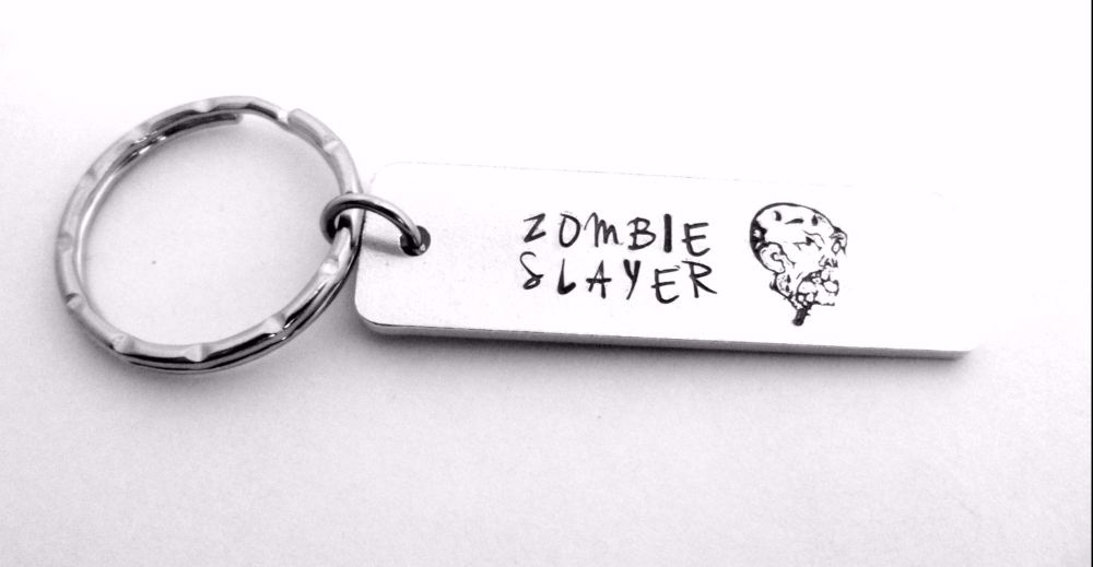 Zombie Slayer Keyring