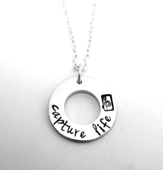 Capture Life - washer necklace