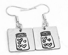 Jar of Hearts (square) Earrings