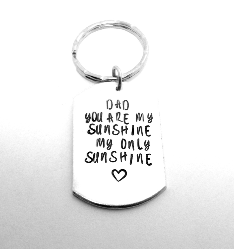 You Are My Sunshine Keyring
