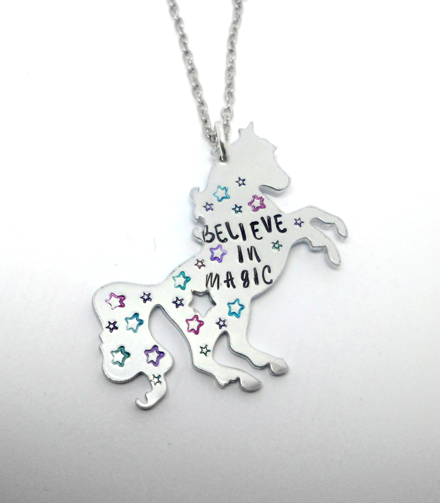 Believe In Magic - Full Unicorn Necklace - Long Chain