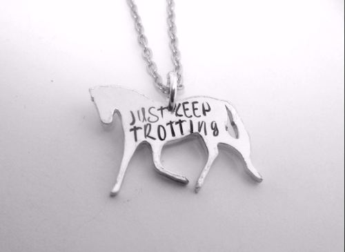Just Keep Trotting - Horse Necklace