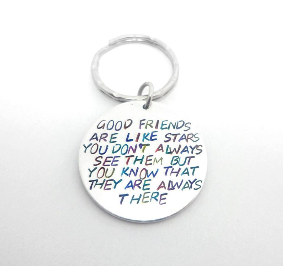 Good friends are like stars... Keyring (multicoloured)