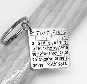 Special Date Calendar Keyring