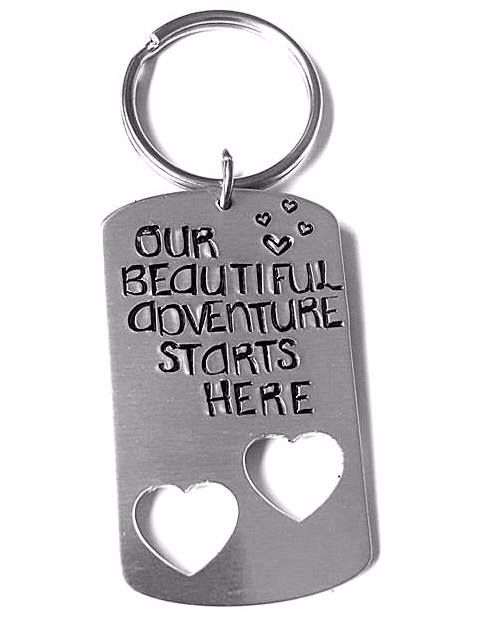 Our Beautiful Adventure Starts Here Keyring
