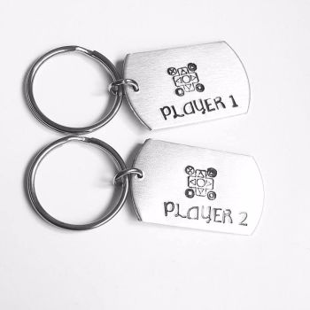 Player 1 and Player 2 - Gamer Keyrings