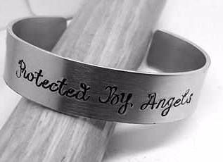 Proctected By Angels - Cuff Bracelet