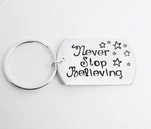 Never Stop Believing Keyring