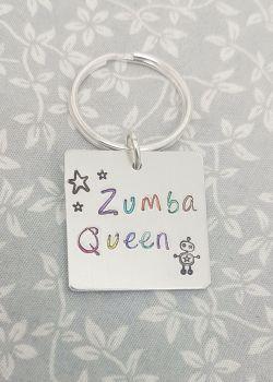 Zumba Queen Keyring
