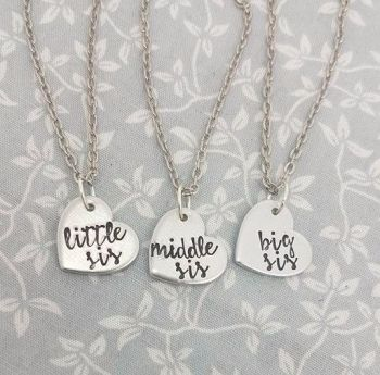 Little Sis, Middle Sis & Big Sis Necklaces