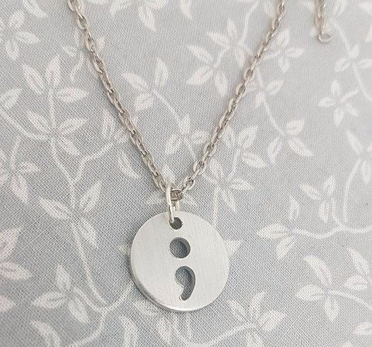 Semi Colon Cut Out Necklace