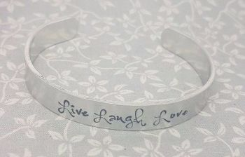 Live Laugh Love - Cuff Bracelet