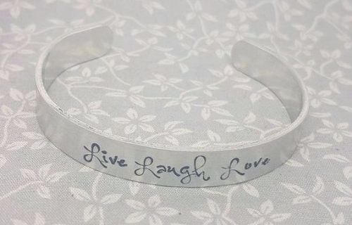 Live Laugh Love - Cuff Bracelet