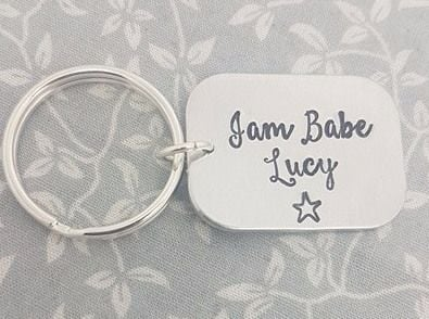 Jam Babe - Jamberry keyring, personalised with name
