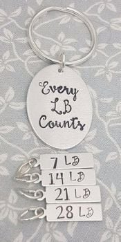 Every LB Counts - Weight Loss Keyring + 4 Charms (LB)