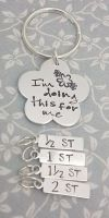 I'm doing this for me - Flower - Weight Loss Keyring + 4 Charms (ST)