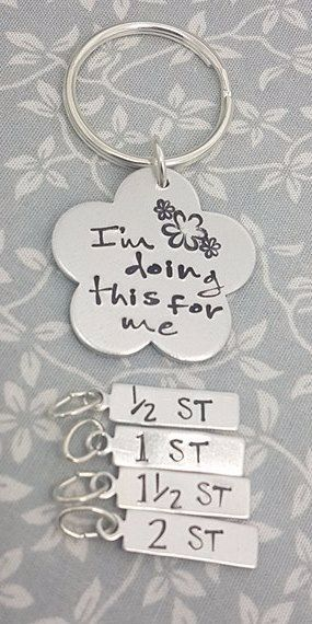 I'm doing this for me - Weight Loss Keyring + 4 Charms (ST)