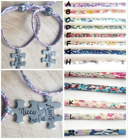 Aunt & Niece Matching Liberty Of London Adjustable Bracelets