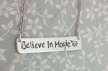 Believe In Magic, Unicorn - Bar Necklace