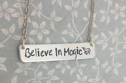 Believe, Butterflys - Bar Necklace