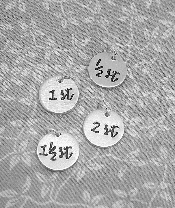 Stone - Round Charms - choose your own numbers!