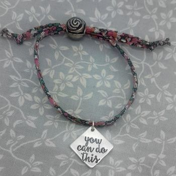 Weight Loss Base Bracelet - You Can Do This - 12 differnt fabrics available to choose from.