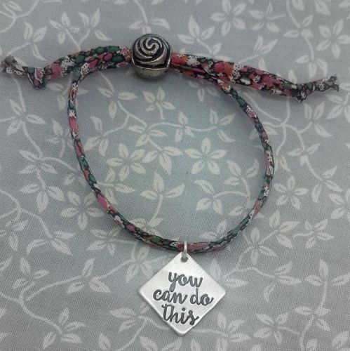 Weight Loss Base Bracelet - You Can Do This - 12 differnt fabrics available