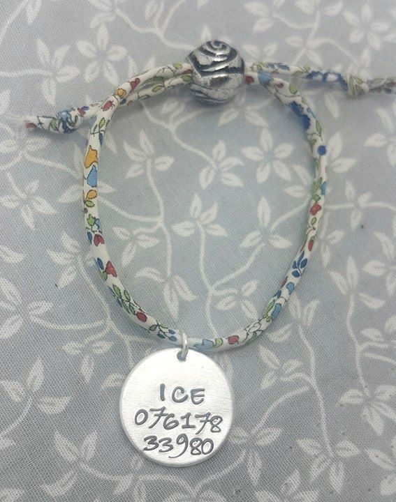 Medical Base Bracelet - ICE Number - 12 differnt fabrics available to choos