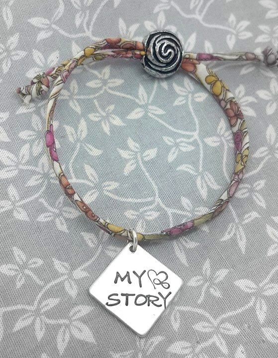 Life Base Bracelet - My Story - 12 differnt fabrics available to choose fro
