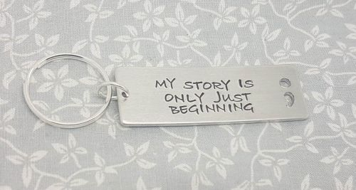 My story is only just beggining.. Semicolon Cut Out Keyring
