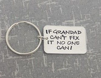 If Grandad Can't Fix It No One Can Keyring