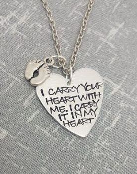 I carry your heart with me, i carry it in my heart Necklace
